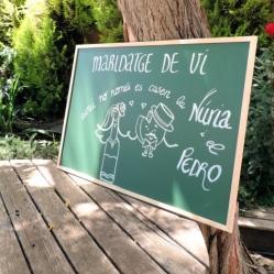 El cartel que preparamos para el maridaje cava-quesos