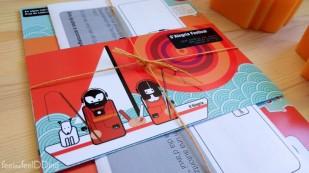 Bien atadito venía todo el pack de la invitación, que tenía 3 elementos, el tarjetón, el cómic y el cuestionario.