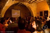 El cine que montamos en la bonita Sala Gótica de la Masía la Torre del Gall