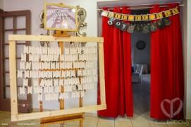 """El Seating plan, la entrada a los premios """"Goyoscar"""", cada invitado encontrava su tícket con su sitio."""